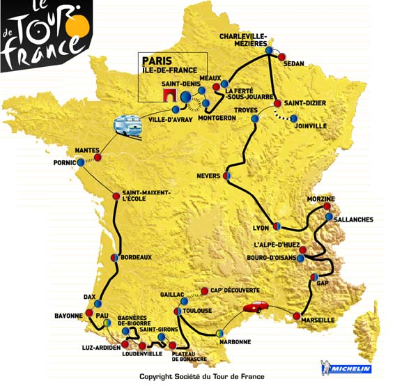 Travelling From Nice To Toulouse Roadtrip: 2003 Tour De France Road Trip